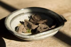 Predjedlo - kuracia pečeň s japonským korením (sanshyou)