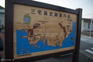 Mapa časti ostrova...