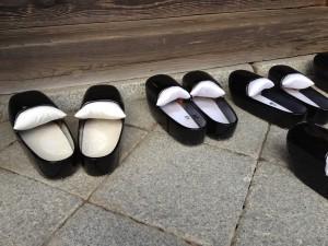Drevené topánky s vankúšikom